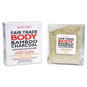 Maroma Vegan Bambuskohlen-Peelingpulver Fair Trade