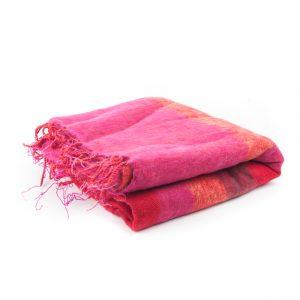Meditationsdecke XL rot/rosa/orange
