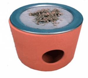 Räuchergefäß Terracotta + Sieb und Kerzenhalter