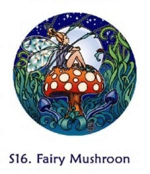 Fensterbild Feen-Pilz