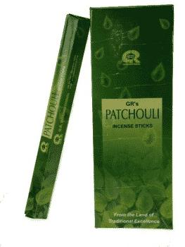 G.R. Raucherstäbchen Patchouli (6 Packungen à 20 Gramm)