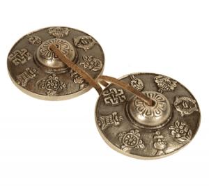Tingsha 8 glücksverheißende Symbole (7,5 cm)