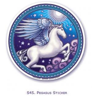 Fensterbild Pegasus