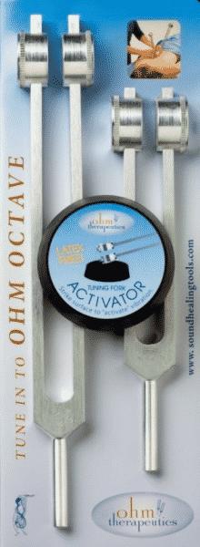 Stimmgabeln Ohm-Oktaven-SET + Aktivator