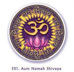 Fensterbild Aum Namah Shivaya