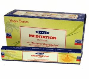 Räucherstäbchen Satya Nag Champa Meditation(12 Packungen)