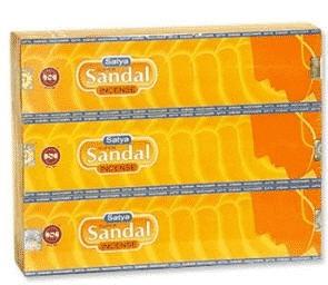 Räucherstäbchen Satya Nag Champa Super Sandal (12 Packungen)