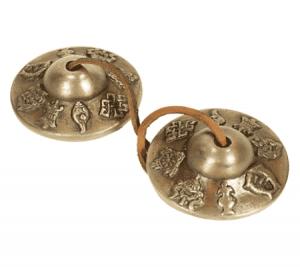 Tingshas optimaler Klang 8 glücksverheißende Symbole (7,7 cm)