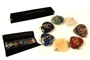 SET 7 Chakra Sanskrit Symbol-Anhänger