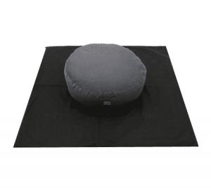 Meditationsmatte - quadratisch (schwarz)