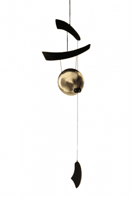 Windgong Zen mit flacher Metallscheibe