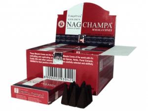 Räucherkegel Golden Nag Champa Masala (12 Packungen)