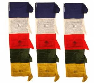 Gebetsfahne Tibetan vertikal