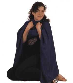 Meditationswickel - einfarbig (dunkelblau)