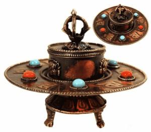 Räucherstäbchenhalter tibetisch Metall