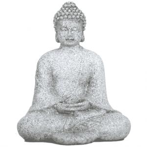 Meditation Buddha (Steingrau -12 cm)