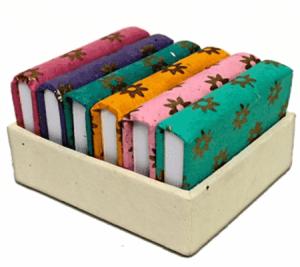 Notebook in handgefertigter Box - 5×7 cm - (6er Set)
