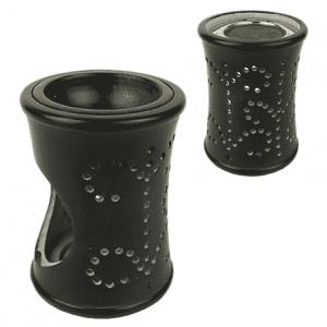 Rauchergefäß - Duftlampe Speckstein schwarz