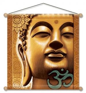 Meditation Wandschmuck - Goldener Buddha (37,5 x 37,5 cm)