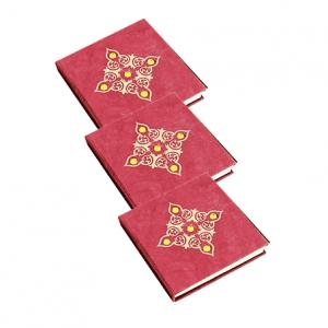Notebook Rot mit Kieselsteinen - Klein
