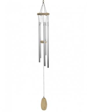 Windspiel mit 5 Klangstäben und Naturholz