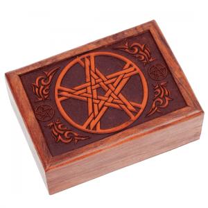 Tarotkistchen mit geschnitztem Pentagramm