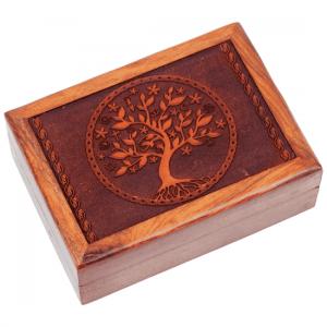 Tarotkistchen geschnitzt, Baum des Lebens