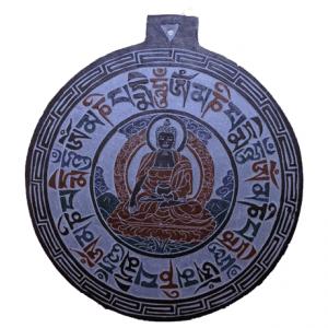 Tonschiefer Relief Buddha OMPMH
