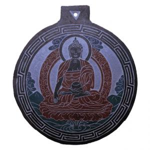 Tonschiefer Relief Buddha