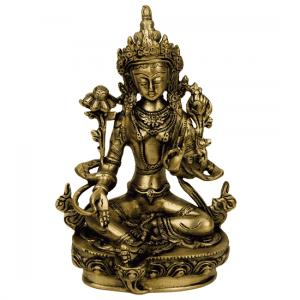 Grüne Tara Statue Messing - 20 cm