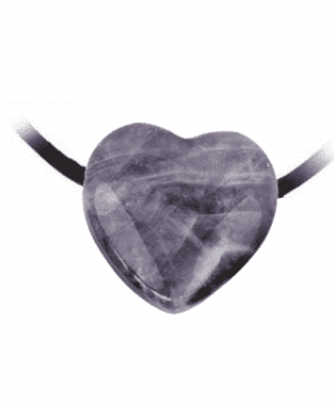 Amethystanhänger Herz gebohrt