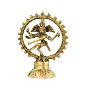 Shiva Nataraja Messing einfarbig - 15 cm