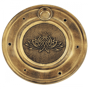 Räucherstäbchen- und Weihrauchkegelhalter Lotus