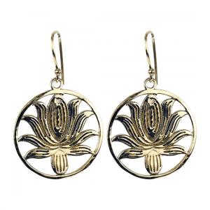 Ohrhänger Lotus Messing goldfarbig