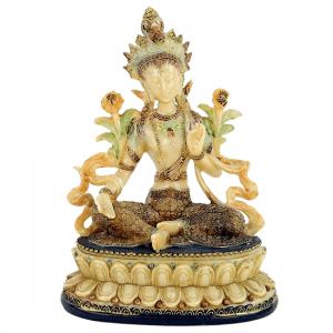 Grüne Tara, weiblicher Buddha (17 cm)