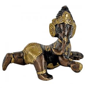 Baby Ganesha zweifarbig - 10 cm