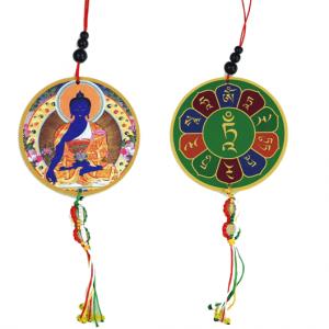 Auto oder Fensterhänger Medizinbuddha und Dorje