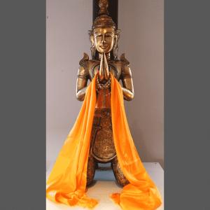 Tibetisches Katha (orange)