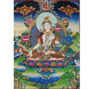 Thangka Reproduktion - weiße Tara