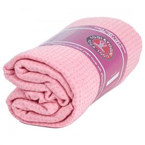Yoga Handtuch rutschfest rosa Silikon