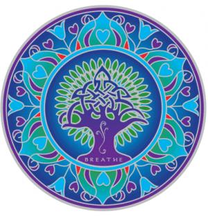 Fensterbild Earth Mandala
