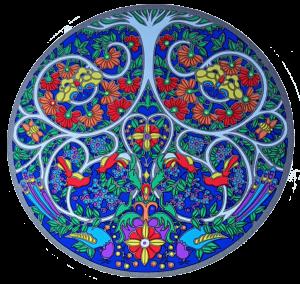 Fensterbild Baum des Lebens