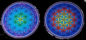 2 Fensterbilder Blume des Lebens Mandala