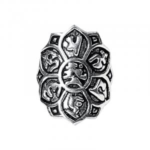 Ring Lotus- Messing - silberfarbig
