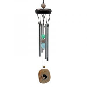 Windspiel mit 4 Stäben, Yin Yang Windfänger