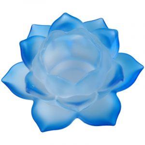 Stimmungslicht Lotusglas Blau
