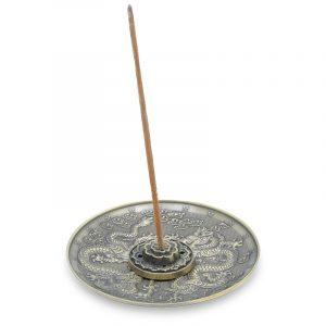 Räucherstäbchenhalter Drachen bronzefarbig