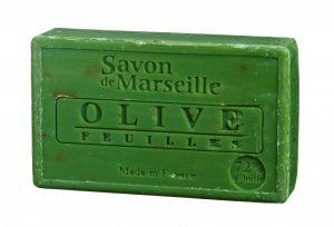 Natürliche Marseille Seife mit Olivenblatt