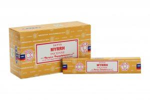 Räucherstäbchen Satya Myrrh (12 Packungen)