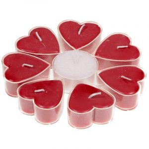 Herzförmige Teelichter - Rose